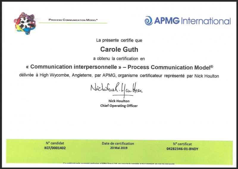 Certification de nos experts